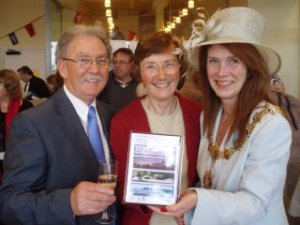 "The launch of the DVD ""A Year In The Life Of Worthing""  with the Mayor for Worthing Ann Barlow"